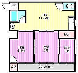 ピュアスモトD棟[2階]の間取り