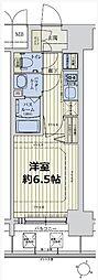 スワンズシティ新大阪ヴィーヴォ 6階1Kの間取り