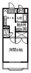 サンライズ山田[302号室]の間取り