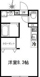 EXCELLENT ~エクセレント~ 1階ワンルームの間取り