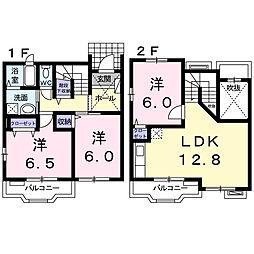 [テラスハウス] 神奈川県海老名市望地2丁目 の賃貸【/】の間取り