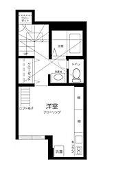 都営三田線 西巣鴨駅 徒歩3分の賃貸マンション 3階ワンルームの間取り