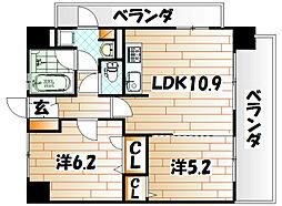 ルネッサンス21小倉東[3階]の間取り