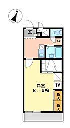 兵庫県相生市古池2の賃貸アパートの間取り