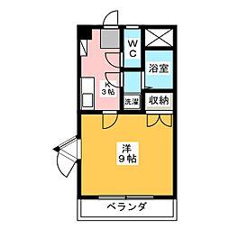 マウンティン藤[4階]の間取り