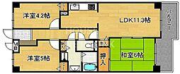 山ノ内パークホームズ[216号室号室]の間取り
