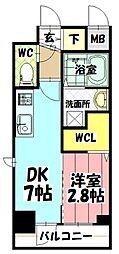 エステムコート名古屋新栄IIアリーナ 5階1DKの間取り