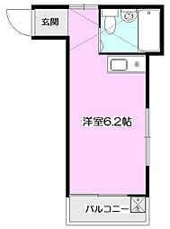 ホワイトシャルムII[2階]の間取り