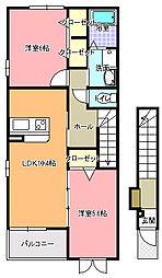 ベルポート・ガーラ[2階]の間取り