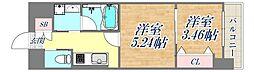 西宮北口プライマリーワンガーデンテラス 4階1DKの間取り