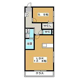 メゾンマイコム2番館[1階]の間取り