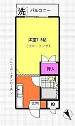 ヤマト青葉台ハウス[1階]の間取り