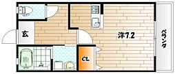 福岡県田川市大字伊田の賃貸アパートの間取り