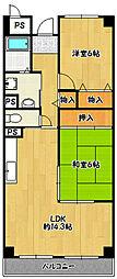 兵庫県神戸市兵庫区大開通の賃貸マンションの間取り
