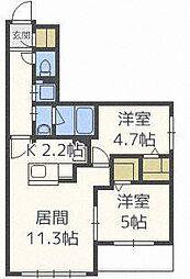北海道札幌市北区北三十五条西5丁目の賃貸マンションの間取り