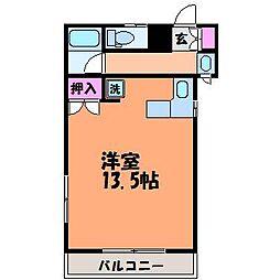 愛媛県松山市北斎院町の賃貸アパートの間取り