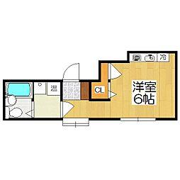 綾小路アパートメント[301号室]の間取り