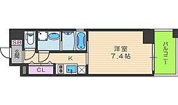 JR東西線 新福島駅 徒歩3分の賃貸マンション 5階1Kの間取り