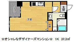 エスティメゾン神戸三宮[4階]の間取り