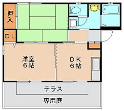 フォレスト筥松B[1階]の間取り