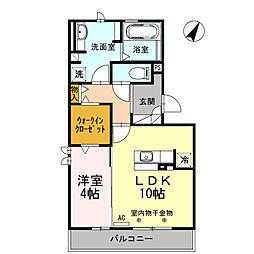 ドムスT[3階]の間取り