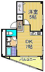 ワンウッドハイツ3[4階]の間取り