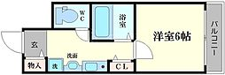 ラナップスクエア難波[3階]の間取り