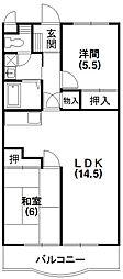 静岡県浜松市東区薬新町の賃貸マンションの間取り