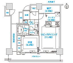 松屋タワー[8階]の間取り