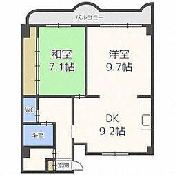 エンドレス琴似B棟[8階]の間取り