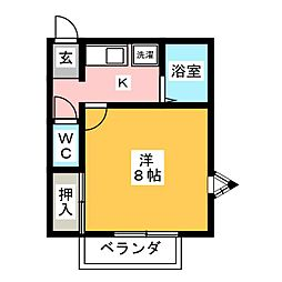 オークハイツ[2階]の間取り