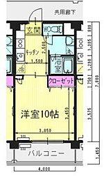 岡山県岡山市北区南方4丁目の賃貸マンションの間取り