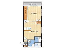 (仮)T様共同住宅 3階1LDKの間取り