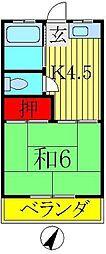 コーポ藤枝[1階]の間取り