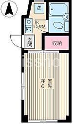 1636−フジネハイツ[101号室]の間取り