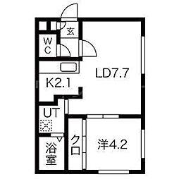 Southern Spot(サザンスポット)[4階]の間取り