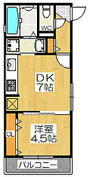 ラヴィータ堺東[2階]の間取り