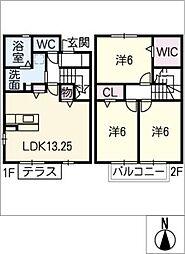 [タウンハウス] 三重県鈴鹿市北江島町 の賃貸【/】の間取り