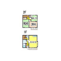 [テラスハウス] 静岡県沼津市沼北町2丁目 の賃貸【静岡県 / 沼津市】の間取り
