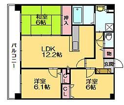 トゥッティ27[2階]の間取り