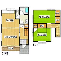 [一戸建] 茨城県つくば市梅園2丁目 の賃貸【茨城県 / つくば市】の間取り