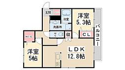 (仮称)川西市・加茂ヘーベルメゾン[303号室]の間取り