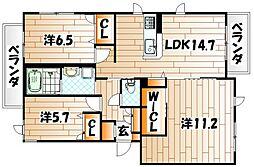 NADYA上富野[3階]の間取り