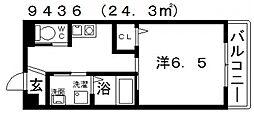 ヒルハイツ高鷲[207号室号室]の間取り