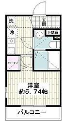 小田急江ノ島線 片瀬江ノ島駅 徒歩7分の賃貸アパート 2階1Kの間取り
