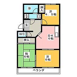 ラフォーレ西沢[2階]の間取り