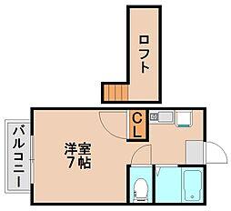 サンリバーI[2階]の間取り