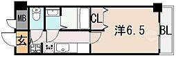 リバーサイド金岡 五番館[8階]の間取り