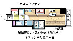 J-cube KOBE[701号室]の間取り