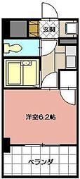 ライオンズマンション三萩野駅前[204号室]の間取り